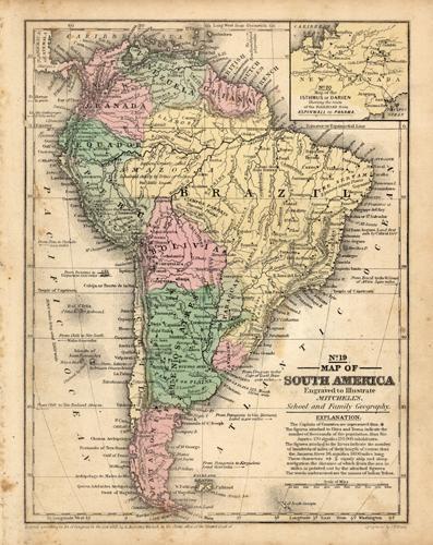 Map of South America S. Augustus Mitchell [ ] (bi_10093687692) photo