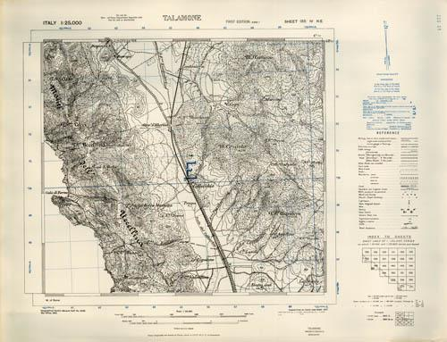 Talamone Italy Map.Talamone Italy By Army Map Service U S Army U S Government