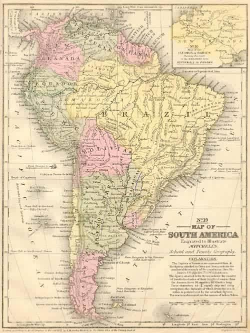 Map of South America S. Augustus Mitchell [ ] (bi_158699514) photo