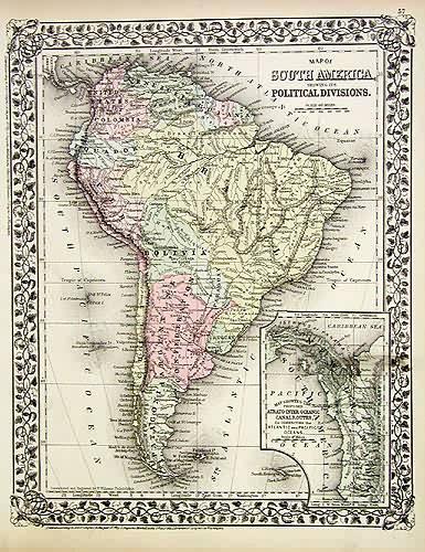 Map of South America S. Augustus Mitchell [ ] (bi_191224426) photo