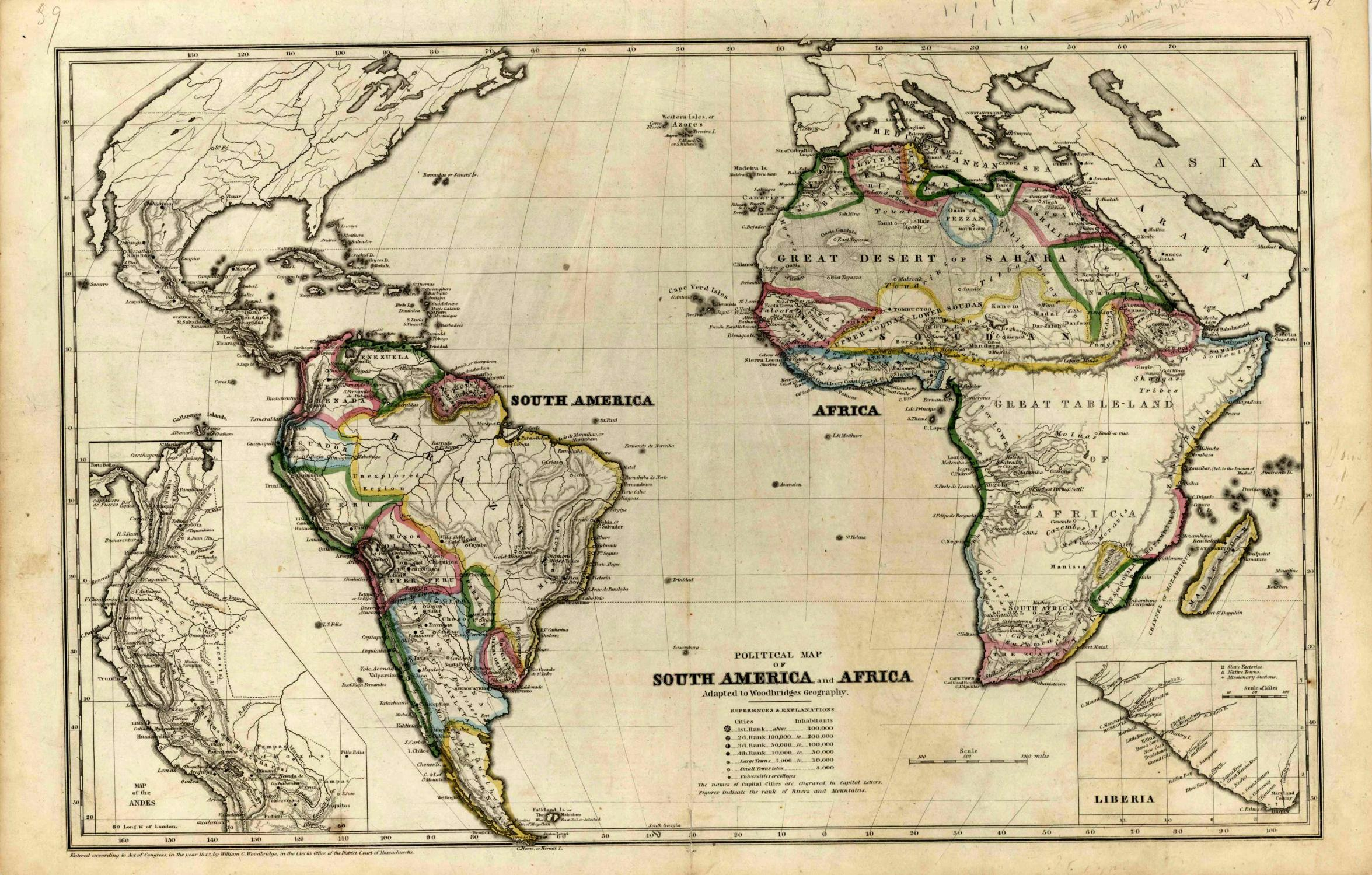 Political Map of South America and Africa   [ ] (bi_30493327052) photo
