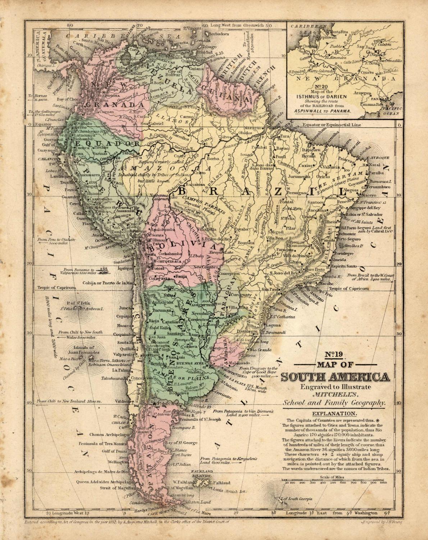 Map of South America Augustus Mitchell [ ] (bi_30493327104) photo