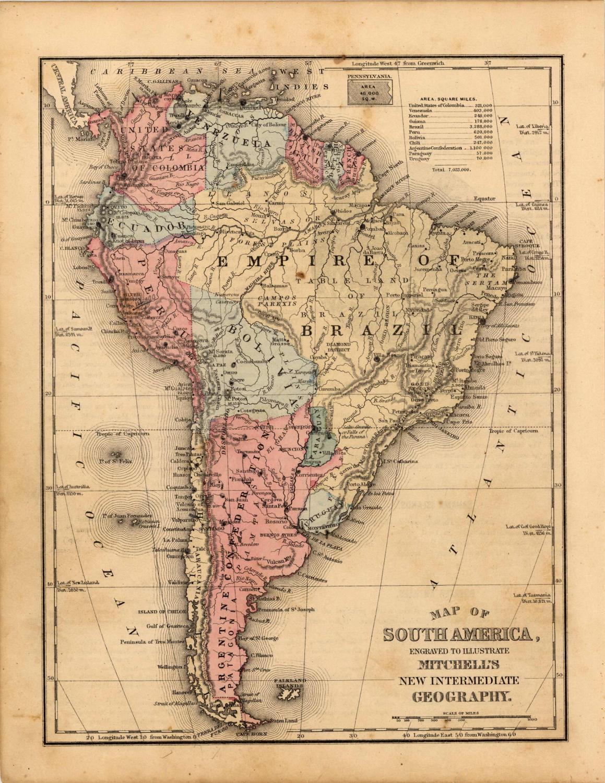 Map of South America H.H. Hardesty & Co. [ ] (bi_30493328156) photo