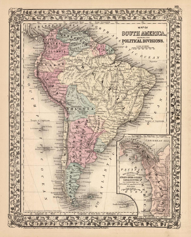 Map of South America   [ ] (bi_30493337061) photo