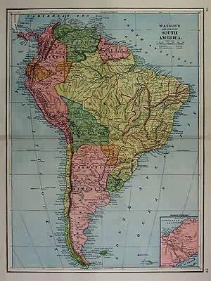 Watsons Atlas Map of South America'   [ ] (bi_30493345115) photo