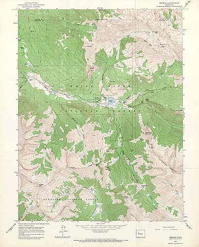 Marble Quadrangle, Colorado