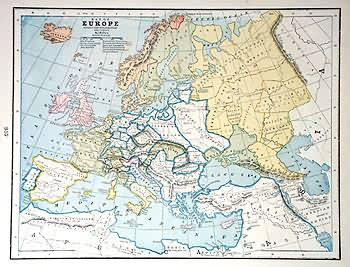 Map Of Europe During The Reformation About 1550 A D By George F