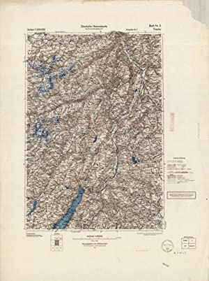 Deutsche Heereskarte (German Army Map) - Trento, Italy: Chief of the War Cards and Surveying