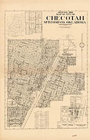 Official 1961 Map of City of Checotah,: Leslie E. Oglevie