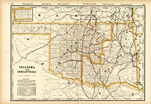 Oklahoma and Indian Ters. (Railroad Map): George F. Cram