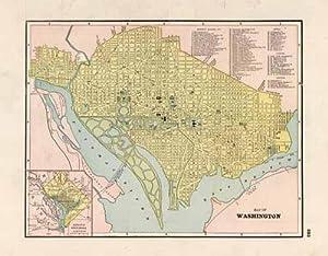 Map of Washington- District of Columbia: George F. Cram