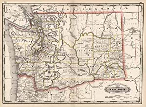 Railroad and County Map of Washington: George F. Cram