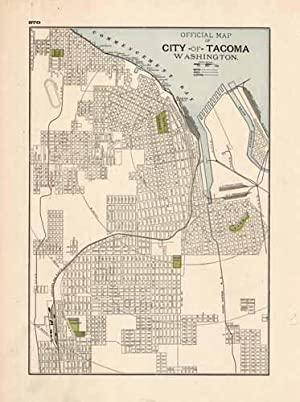 Official Map of City of Tacoma Washington: George F. Cram
