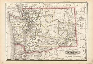 Railroad and Township Map of Washington: George F. Cram