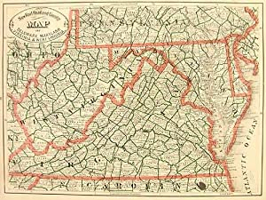 New Rail Road and County Map of: George F. Cram