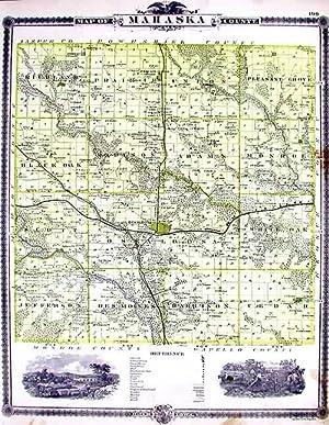 Map of Mahaska County: A. T. Andreas
