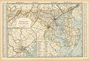 Maryland and Delaware (Railroad Map): George F. Cram