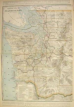 Western Part of Washington (Railroad Map): George F. Cram