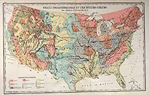 Gray's Geological Map of the United States: O.W. Gray and