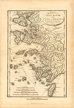 The Coasts of Asia Minor from Cyme to Rhodes greece turkey: J.D. Barbie du Bocage