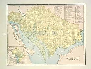 Map of Washington D.C.: George F. Cram