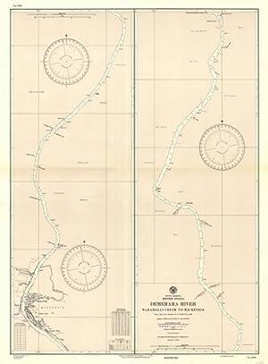 South America - British Guiana - Demerara River - Waramalli Creek to Mackensie: Hydrographic Office...