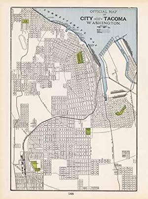 Official Map of the City of Tacoma,: George F. Cram