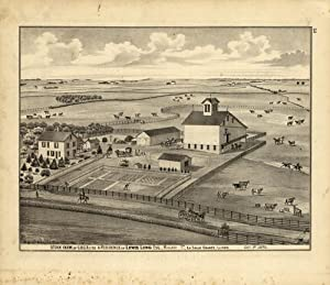 Stock Farm and Residence of Lewis Long,: Warner & Beers