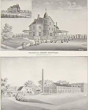 Residence of Joseph Shattuck, Concord St., Nashua,: D.H. Hurd &