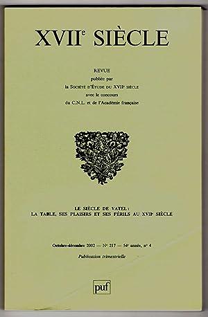 Le siècle de Vatel : la table,: Actes / Collectif