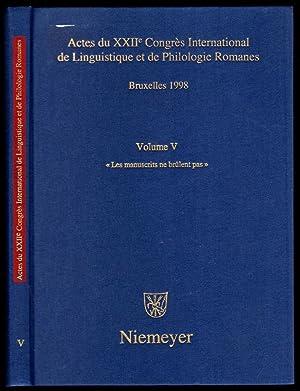 "Les manuscrits ne brûlent pas"". Actes du: Actes / Collectif"