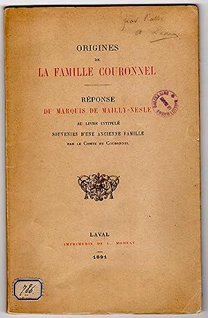 Origines de la famille Couronnel. Réponse du: MAILLY NESLE (arnould,