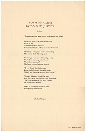 Poem on a Line By Donald Justice
