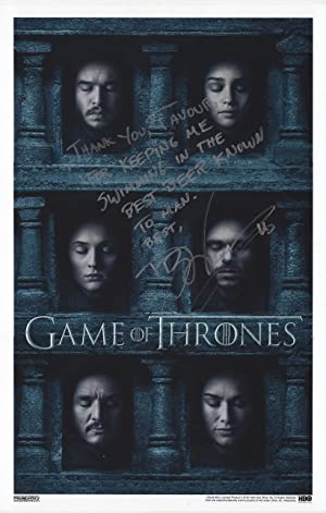 Game of Thrones Season 6 Poster Signed: Martin, George R.