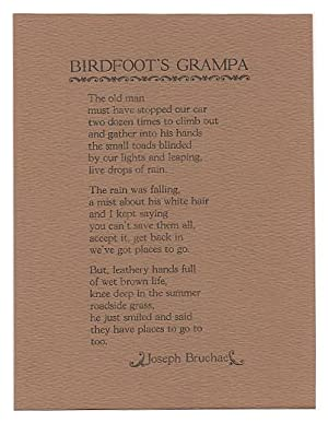 Birdfoot's Grampa (Poetry Post Card No. 28)