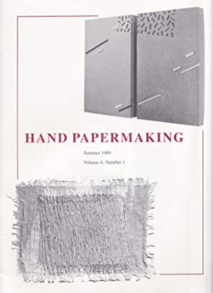 Hand Papermaking Volume 4, Number 1 / Summer 1989