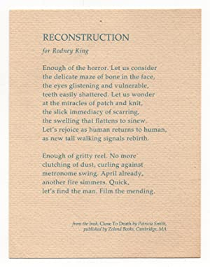 Reconstruction - for Rodney King