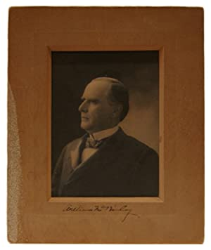 Original Bas-Relief Portrait Photograph of William McKinley as President, Signed on Mount By ...