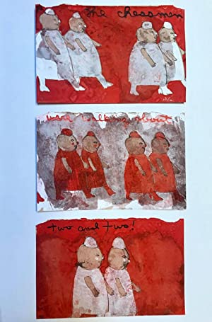 Chessmen Triptych : The Chessmen Were Walking Two and Two : Sketch for Through the Looking Glass ...