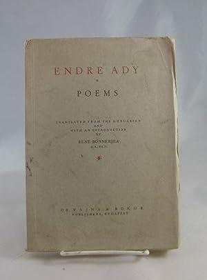 Poems: Ady, Endre; Bonnerjea, Rene (translator)