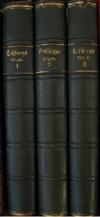 Lessings Werke: Auswahl in Drei Banden [3: Lessing, Gotthold Ephraim;