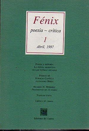 FÉNIX. Poesía / Crítica. Nº 1. Pablo: Anadón, Pablo (Dir.)
