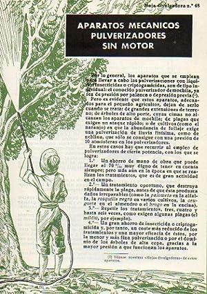 Folleto: HOJA DIVULGADORA Nº 48. APARATOS MECÁNICOS: Sociedad Anónima de