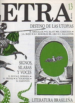 LETRA INTERNACIONAL. Nº 13. Rafael Argullol: EL: Barral, Carlos /