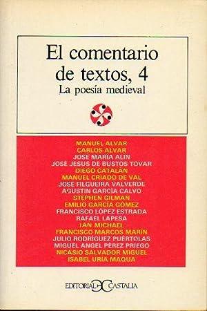 EL COMENTARIO DE TEXTOS, 4. LA POESÍA: V.V. A.A.