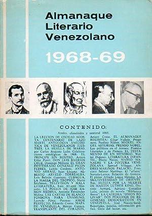 ALMANAQUE LITERARIO VENEZOLANO (1968-1969). Textos de Carlos: Lizardo, Pedro Francisco