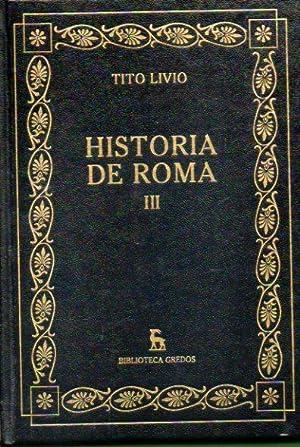 HISTORIA DE ROMA. Vol. III. Libros VIII-X.: Tito Livio.