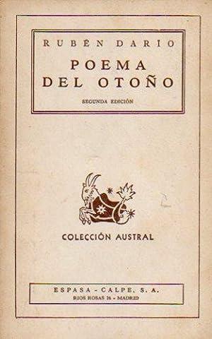 POEMA DEL OTOÑO Y OTROS POEMAS. 2ª: Darío, Rubén.