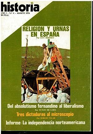 HISTORIA 16. Año I. Nº 4.M. Tuñón: Pardo de Santayana,