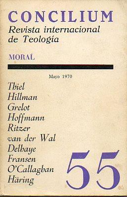 CONCILIUM. REVISTA INTERNACIONAL DE TEOLOGÍA. Nº 55. MORAL. EL MATRIMONIO COMO ...